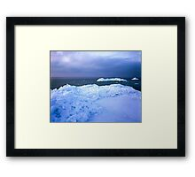 Ice hummocks Framed Print