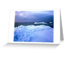 Ice hummocks Greeting Card
