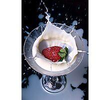 Strawberry Splash Photographic Print