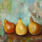 The Happy Pears- Acrylic painting by Esperanza Gallego