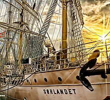 Belfast Sunset and the Sorlandet by peter donnan