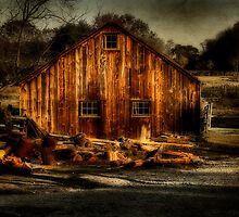 Old Barn  by M a r i e B a r c i a