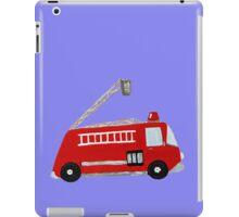 Unique red firetruck design iPad Case/Skin