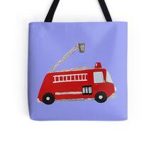 Unique red firetruck design Tote Bag