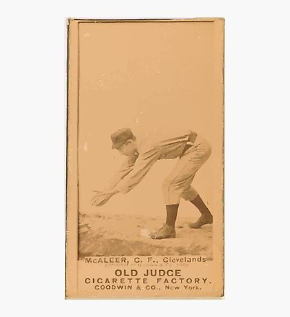 Benjamin K Edwards Collection Jimmy McAleer Cleveland Spiders baseball card portrait 001 Photographic Print