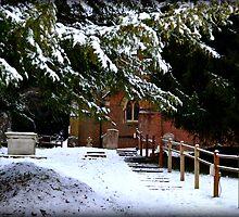 snowy church yard  by infinity1