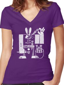 Carrots All Day Long Women's Fitted V-Neck T-Shirt