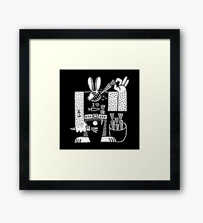Carrots All Day Long Framed Print