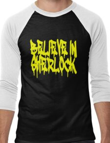 Believe in Sherlock Men's Baseball ¾ T-Shirt