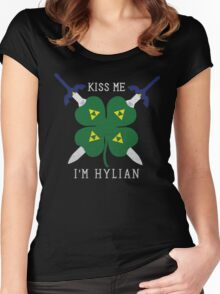 Kiss Me I'm Hylian Women's Fitted Scoop T-Shirt