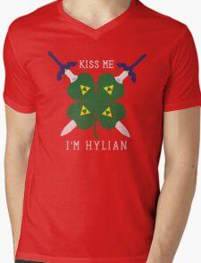 Kiss Me I'm Hylian Mens V-Neck T-Shirt