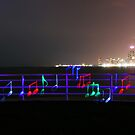 Electric Composition (Chicago skyline view from Diversey Harbor) by Tanya Pshenychny