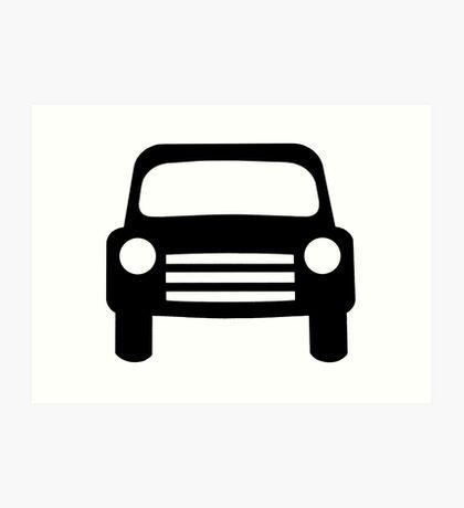motor vehicle sign as clipart Art Print