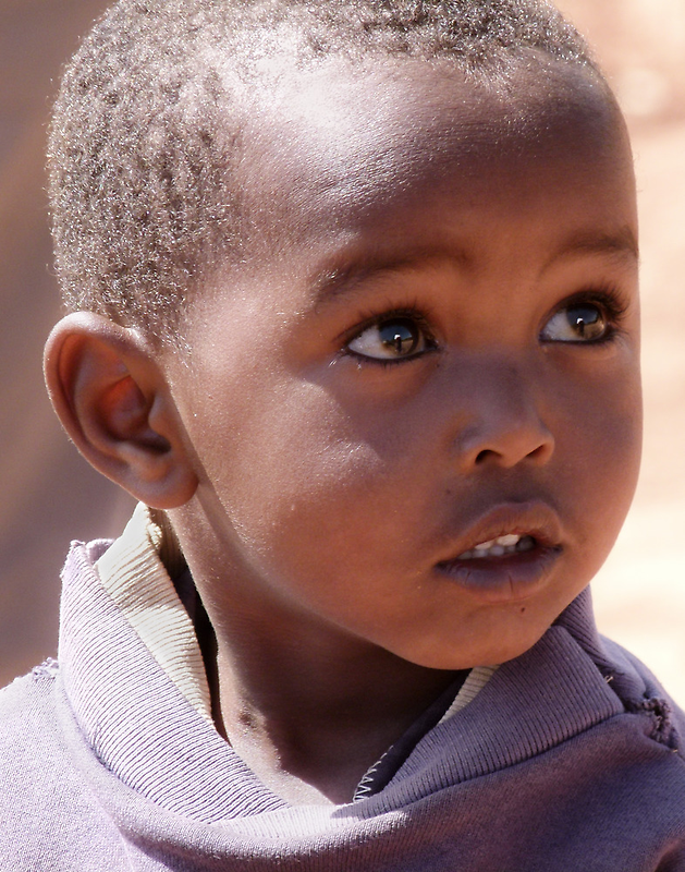 Maasai youngster by Linda Sparks