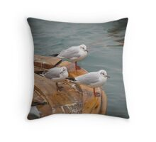 Seagulls in Bosphorus,Istanbul Throw Pillow