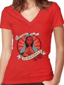 Our Lady Of Sunnydale Women's Fitted V-Neck T-Shirt