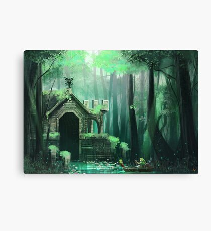 Swamp Temple Canvas Print