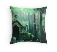 Swamp Temple Throw Pillow