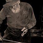 Black smith at work by Rodney Wratten