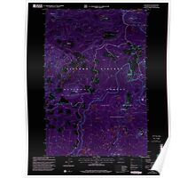 USGS Topo Map Washington State WA Lone Butte 242040 1998 24000 Inverted Poster