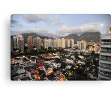 Rio de Janeiro in the evening Canvas Print