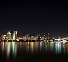 San Diego skyline  by s2kologist