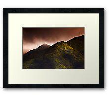 Ko'olau Mountain Range Framed Print