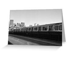 Red Line MBTA Greeting Card