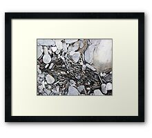 pebble formation Framed Print