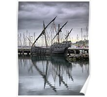 """The """"Notorius"""" Caravel  ( 2 ) Yardarms by Three. Poster"""