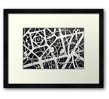 236 - THE MEETING - DAVE EDWARDS - INK - 2012 Framed Print