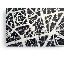 236 - THE MEETING - DAVE EDWARDS - INK - 2012 Canvas Print