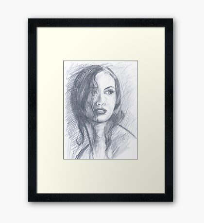 NEIGHBOR GIRL Framed Print