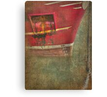 Above the water line Canvas Print