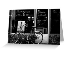 Paris Bicycle Greeting Card