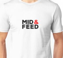 Mid AND Feed - red accent Unisex T-Shirt