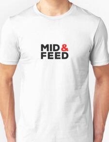 Mid AND Feed - red accent T-Shirt