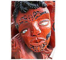 maori carving 2 Poster