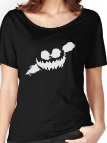 Haunted Smile white Women's Relaxed Fit T-Shirt