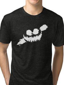 Haunted Smile white Tri-blend T-Shirt