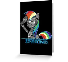 Brony Typography POSTER Greeting Card