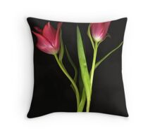 Red Flames Throw Pillow