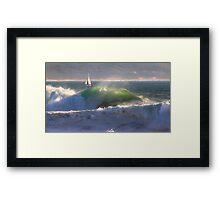 ipad . Nazaré. Framed Print
