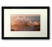 ipad ....when two waves love each other... Framed Print