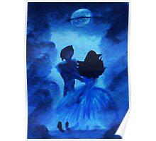 Dancing the night away, watercolor Poster