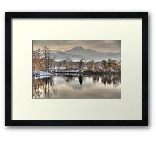 Between Fall and Winter Framed Print
