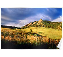 Summer At The Flatirons Poster