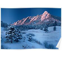 Cathedral - The Flatirons At Sunrise Poster