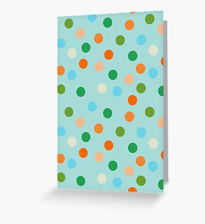 Beach polka dots Greeting Card