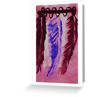 Feather display, Southwestern theme, watercolor Greeting Card